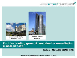 Sustainable Remediation Webinar – April, 15, 2014 - CLU-IN
