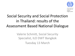 Social Security and Social Protection in Thailand: results of the