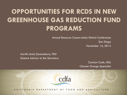 Ami Gunasekara, CDFA - California Association of Resource