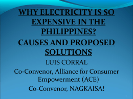Why is electricity so expensive in the Philippines