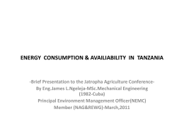 Energy consumption and availability in Tanzania