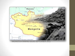 MONGOLIA MINING ISSUES