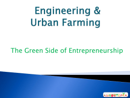 Urban Farming & Engineering - UNO-EF
