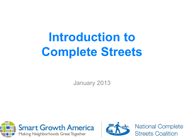 Introduction to Complete Streets PowerPoint