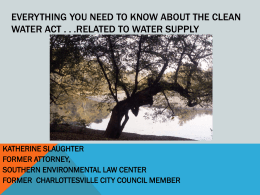 Everything You Need to Know about the Clean Water Act