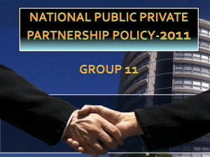 Draft National Public Private Partnership Policy