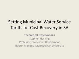 Presentation 1 - Water Research Commission