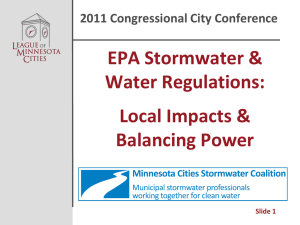 EPA Stormwater & Water Regulations