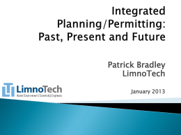 Integrated Planning/Permitting - Metropolitan Washington Council of