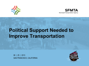 Political Support Needed to Improve Transportation
