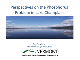 Phosphorus Impacts in Lake Champlain
