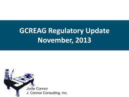 GCREAG Regulatory Update November 2013