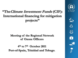 iii. Climate Investment Funds (CIF)