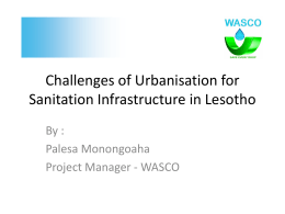 Challenges of Urbanisation for Sanitation