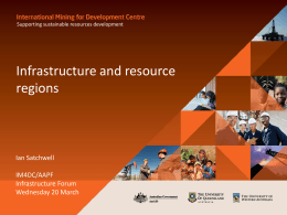 Infrastructure and Resource Regions