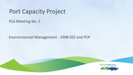 EES & Port Capacity Project Environmental Management