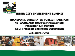 Integrated Public Transport Network- Joel Mushwana