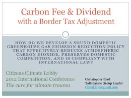 WTO & Border tax adjustment