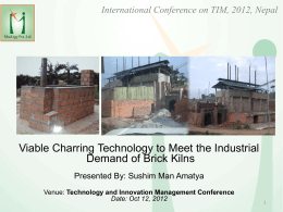 Presentation - International Conference on Technology
