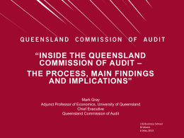 Commission of Audit - University of Queensland