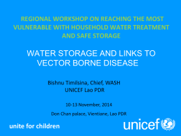 - International Network on Household Water Treatment