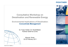 Environmental Implications of Desalination: Concentrate Management