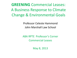 Celeste Hammond, Greening Commercial Leases