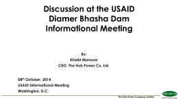 Discussion at the USAID Diamer Bhasha Dam Informational Meeting