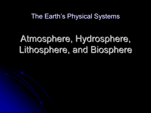 Atmosphere, Hydrosphere, and Lithosphere - ReneeASD