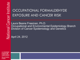 Occupational Formaldehyde Exposure and Cancer Risk