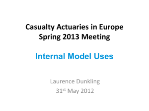 Presentation - Casualty Actuarial Society