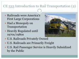 Intro to Rail Transportation 2