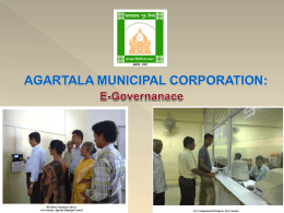 e-Pourasabha Presentation - Agartala Municipality Corporation