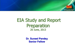 EIA Study and Report Preparation