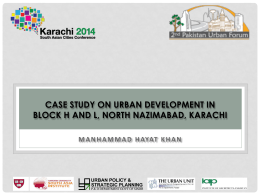 CASE STUDY ON URBAN DEVELOPMENT IN BLOCK H AND L