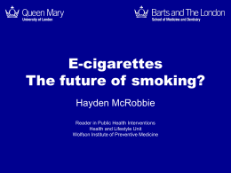 to the presentation - UK National Smoking Cessation
