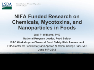NIFA Funded Research on Chemicals, Mycotoxins