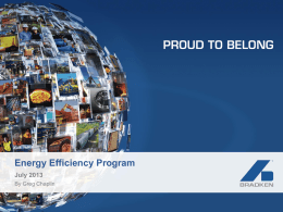Bradken Presentation 2013 - Energy Efficiency Opportunities