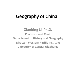 Chinese Geography - East Asia Institute | The University of Oklahoma