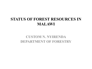 DoF Status of Forest Resources in Malawi by Custom Nyirenda