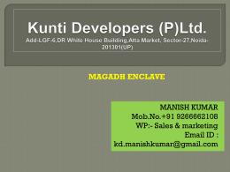 Kunti Developers (P)Ltd. Add-LGF-6,DR White