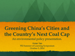 Greening China*s City - Princeton University