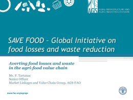Global Initiative on food losses and waste reduction