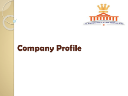 Company Profile - Alameer Insulation