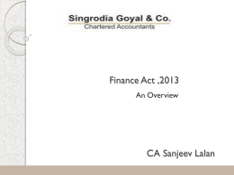 Finance act 2013 – FINAL 9 June 13 CA Sanjeev Lalan
