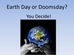 Earth Day or Doomsday