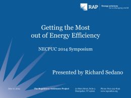 Getting the Most Out of Energy Efficiency