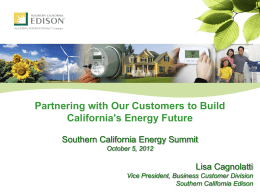 Lisa Cagnolatti - Southern California Energy Summit