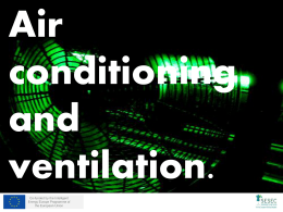 Air conditioning, ventilation final