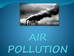 AIR POLLUTION sunum